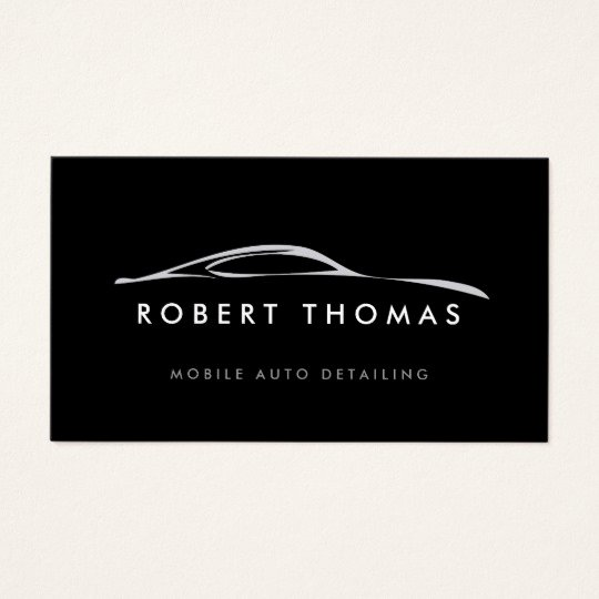 Auto Detail Business Cards Lovely Black Auto Detailing Auto Repair Business Card