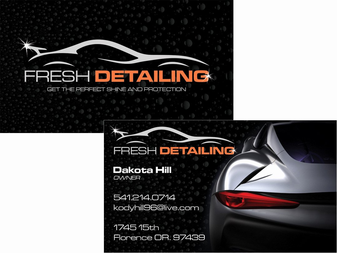 Auto Detail Business Cards Luxury Fresh Detailing Business Card Westcoast Media Group