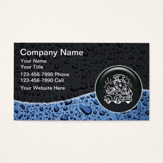 Auto Detail Business Cards New Auto Detailing Business Cards