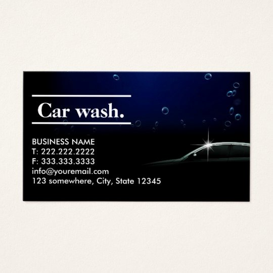 Auto Detail Business Cards New Elegant Dark Auto Detailing Car Wash Business Card