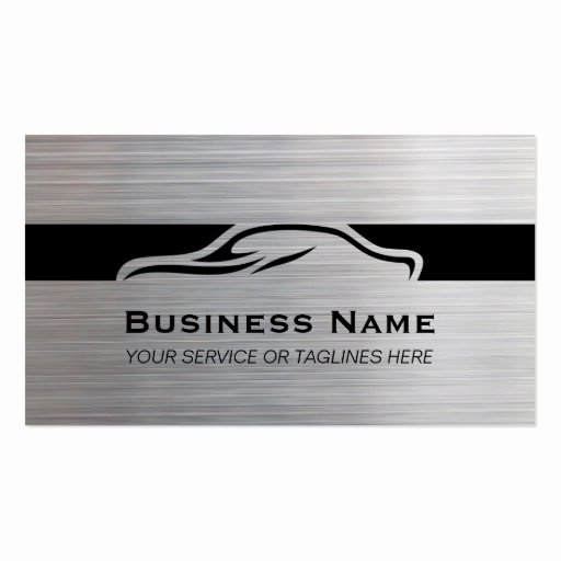 Auto Detail Business Cards Unique Auto Repair Car Detailing Automotive Modern Metal Business Card