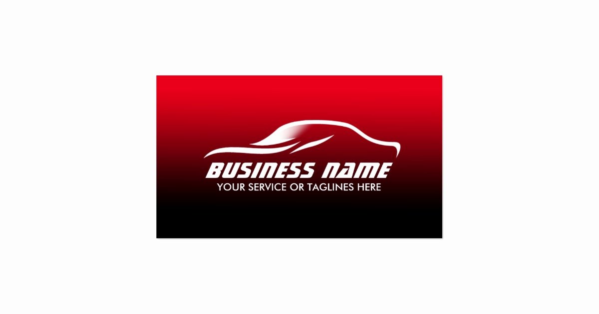 Auto Detailing Business Cards Awesome Auto Detailing Professional Black & Red Automotive