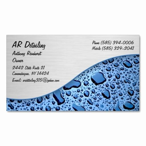 Auto Detailing Business Cards Beautiful 273 Best Auto Detailing Business Cards Images On Pinterest