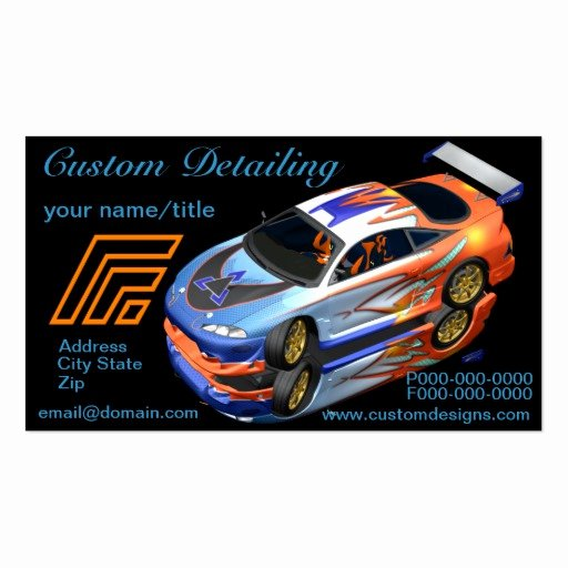 Auto Detailing Business Cards Best Of Custom Auto Detailing Business Cards