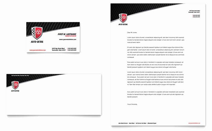 Auto Detailing Business Cards Fresh Auto Detailing Business Card & Letterhead Template Design