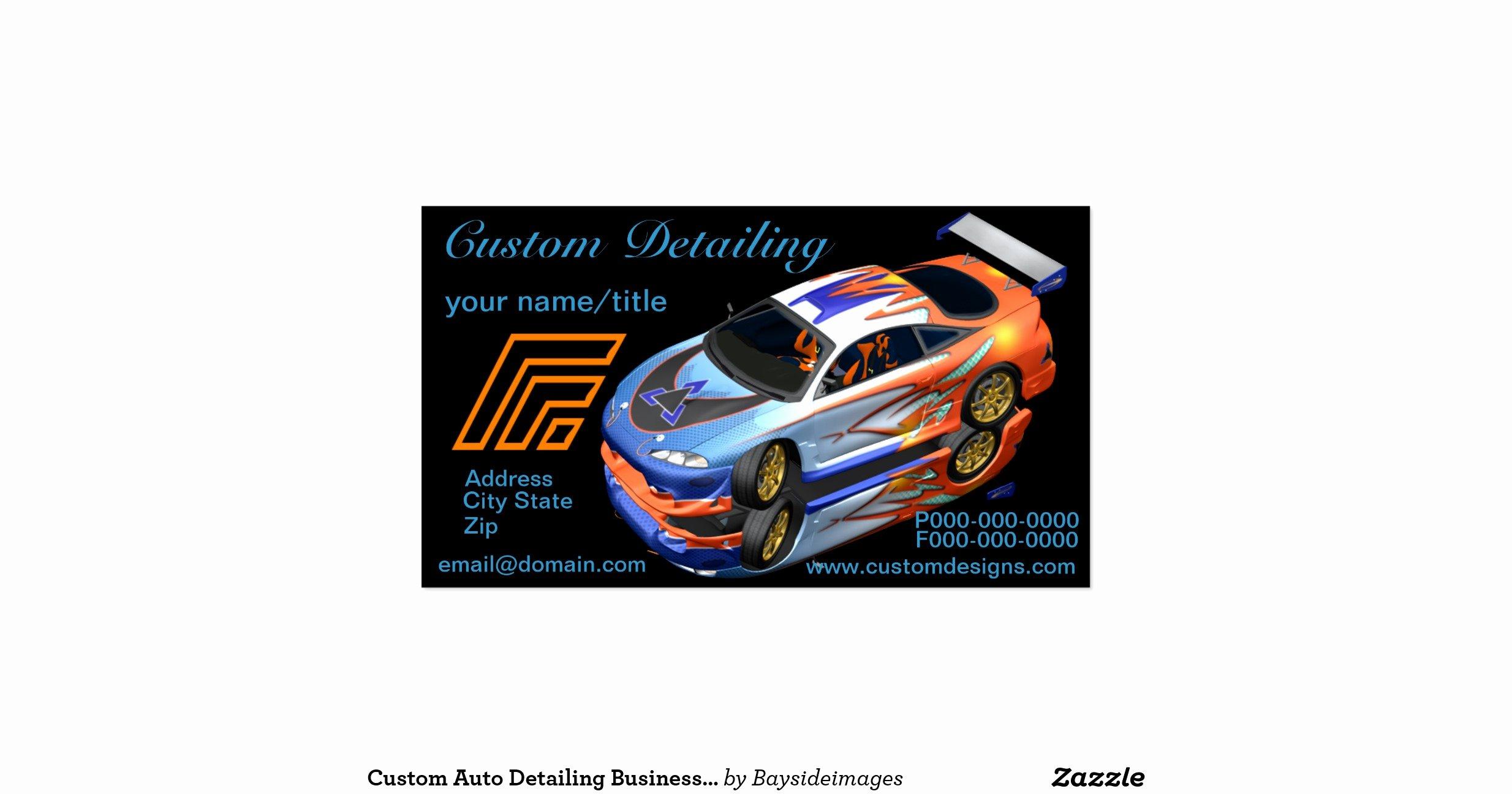 Auto Detailing Business Cards Fresh Custom Auto Detailing Business Cards