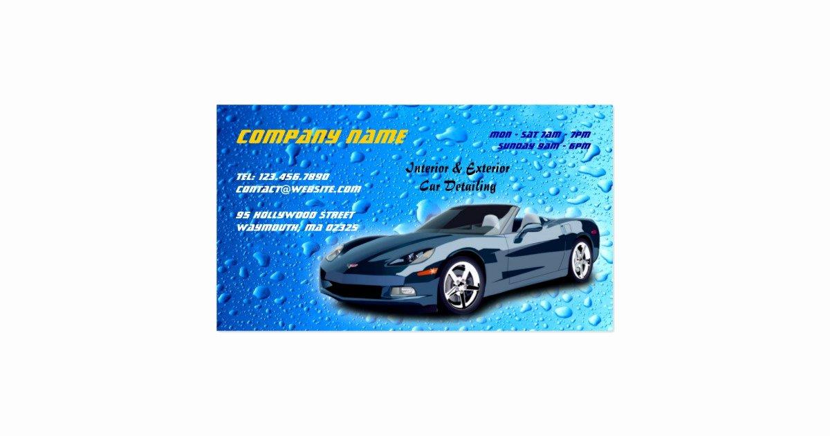Auto Detailing Business Cards Inspirational Auto Detailing Business Card