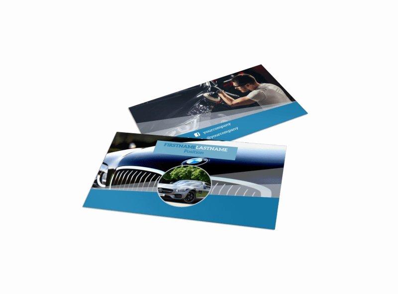 Auto Detailing Business Cards Inspirational Auto Detailing Business Card Template