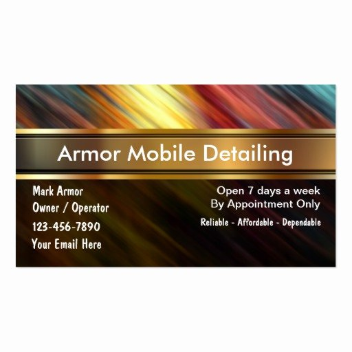 Auto Detailing Business Cards Luxury Auto Detailing Business Cards