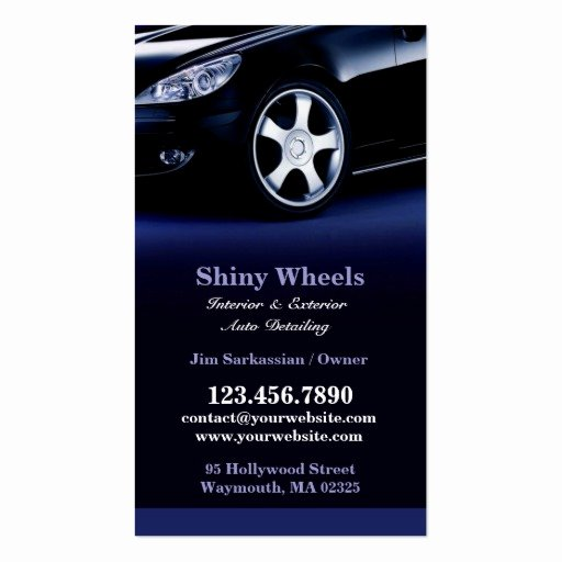 Auto Detailing Business Cards New Auto Detailing Business Card