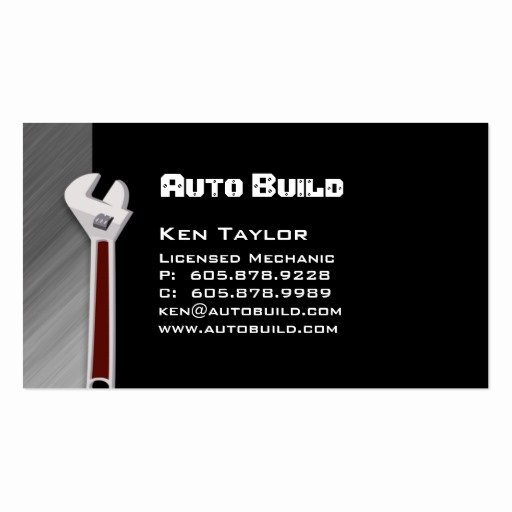Auto Mechanic Business Card Beautiful Automobile Auto Mechanic Business Card