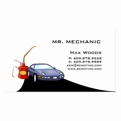 Auto Mechanic Business Card Elegant Auto Mechanic Business Card