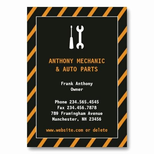 Auto Mechanic Business Card Inspirational 7 Best Automotive Auto Repair Mechanic Business Cards Images On Pinterest