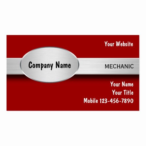 Auto Mechanic Business Card Lovely Auto Mechanic Business Cards