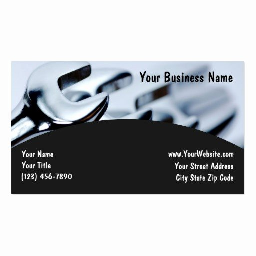 Auto Mechanic Business Card Luxury Automotive Automotive Business Cards