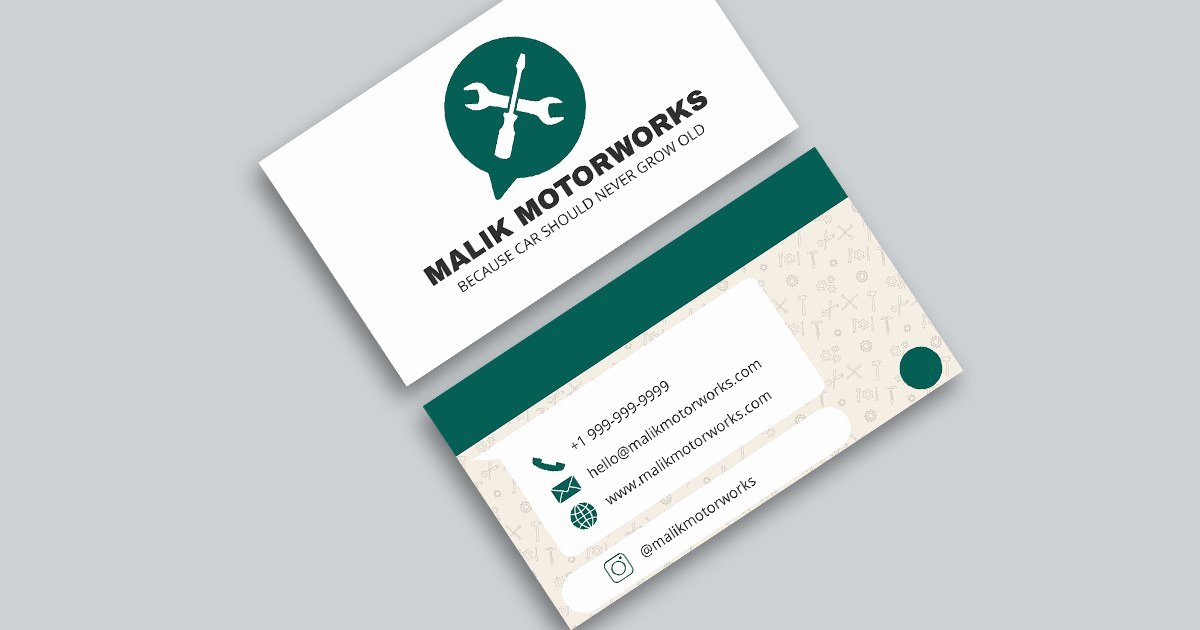 Auto Mechanic Business Card New 10 Automotive Business Card Templates Fully Customisable Line