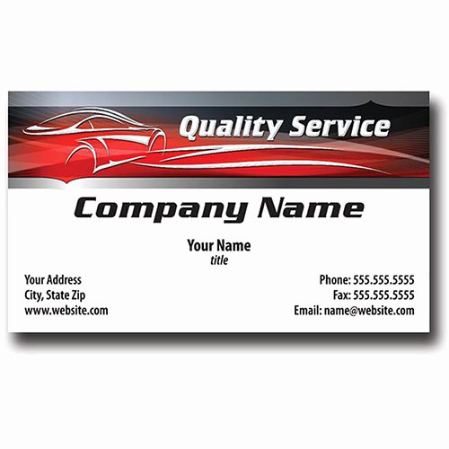 Auto Mechanic Business Card New Auto Repair Business Cards with Foil Silhouette