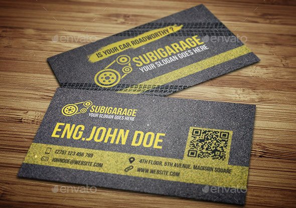 Auto Mechanic Business Card Unique 20 Best Automotive Business Card Design Templates