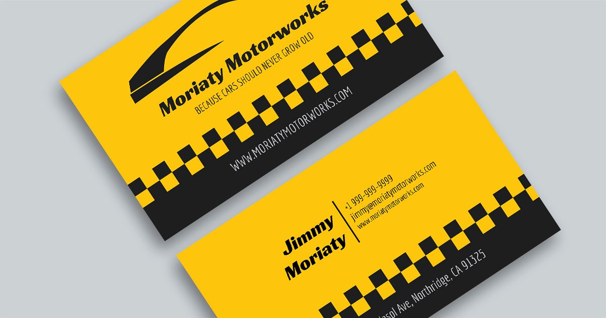 Auto Mechanic Business Cards Awesome 10 Automotive Business Card Templates Fully Customisable