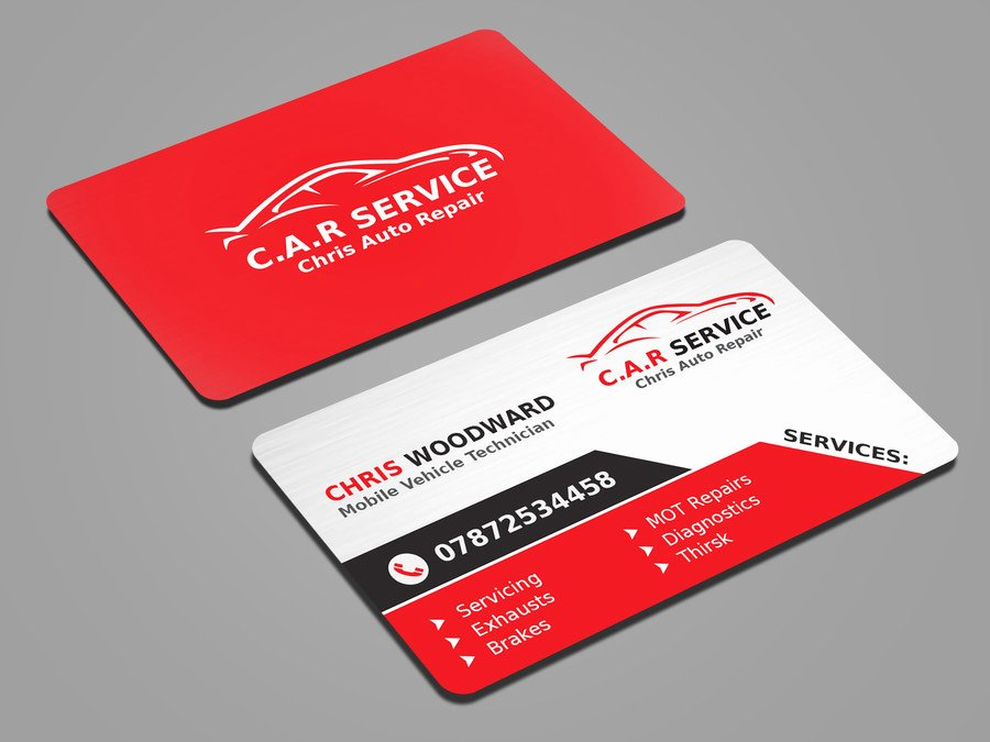 Auto Mechanic Business Cards Beautiful Entry 31 by Mahmudkhan44 for Design Car Mechanic Business
