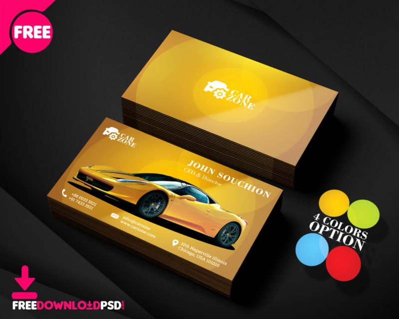 Auto Mechanic Business Cards Elegant Automotive Business Card Templates Psd