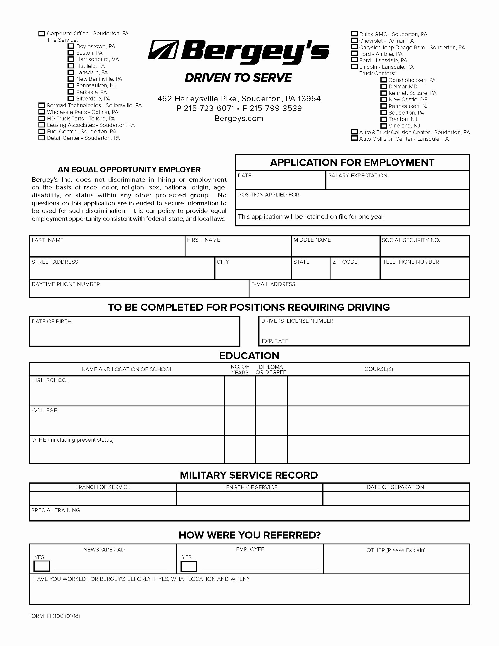 Automobile Credit Application form Elegant Print Application