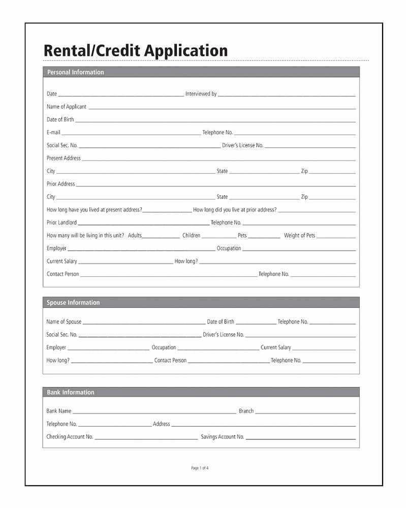 Automotive Credit Application form Fresh Adams Rental Credit Application forms and Instructions