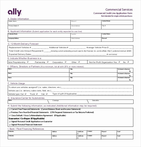 Automotive Credit Application form Inspirational Credit Application Template – 13 Free Word Pdf Documents Download
