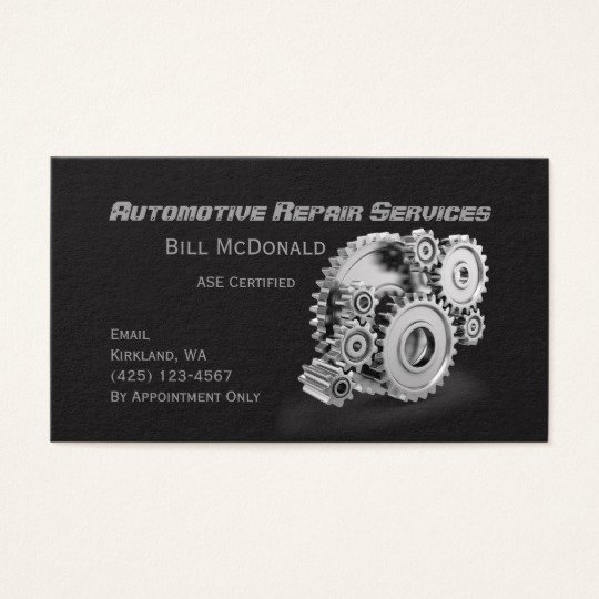Automotive Repair Business Cards Beautiful Automotive Repair Business Card
