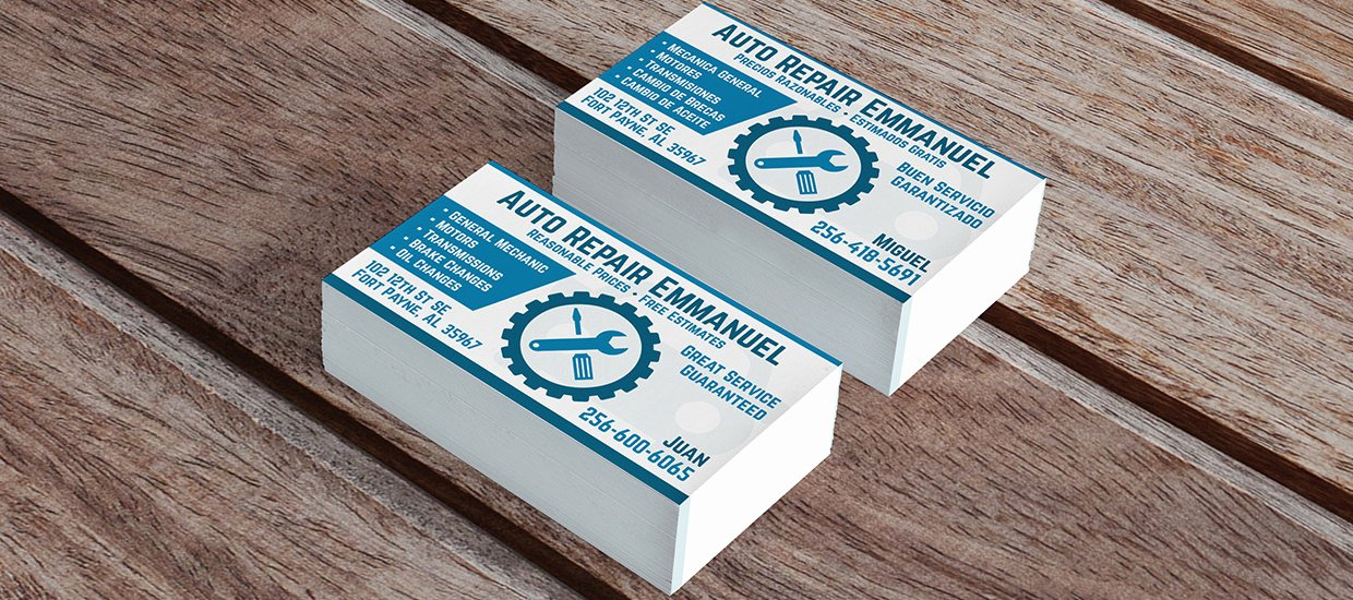 Automotive Repair Business Cards Inspirational Accel Graphics