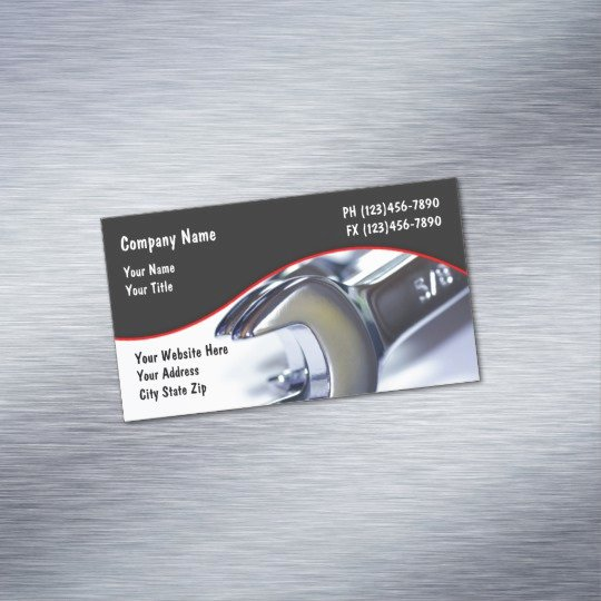 Automotive Repair Business Cards Inspirational Auto Repair Business Card Magnet