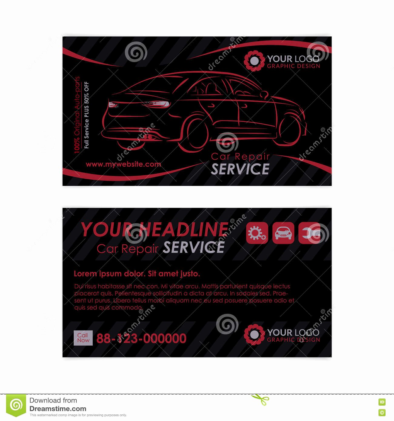 Automotive Repair Business Cards Inspirational Auto Repair Business Card Template Create Your Own