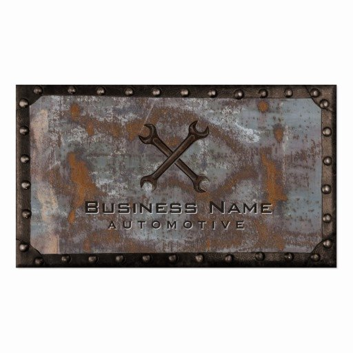 Automotive Repair Business Cards Lovely Auto Repair Grunge Rusty Metal Vintage Automotive Business