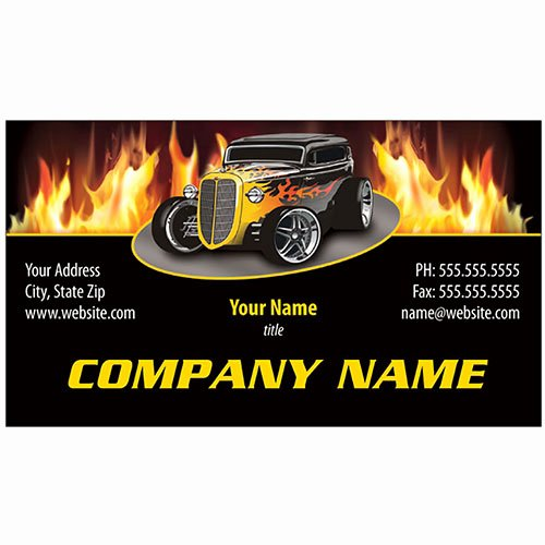 Automotive Repair Business Cards Lovely Full Color Auto Repair Business Cards Fire Coupe
