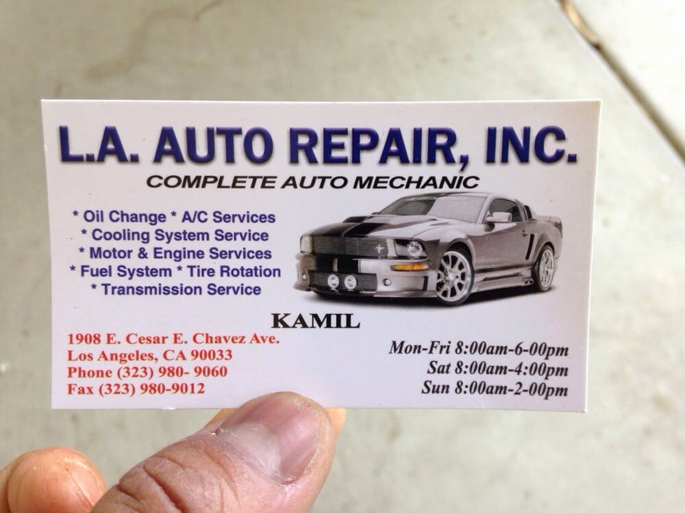Automotive Repair Business Cards Lovely L A Auto Repair Inc 50 Reviews Auto Repair 1908