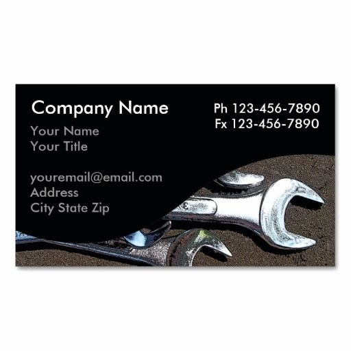 Automotive Repair Business Cards New Mechanic Business Cards