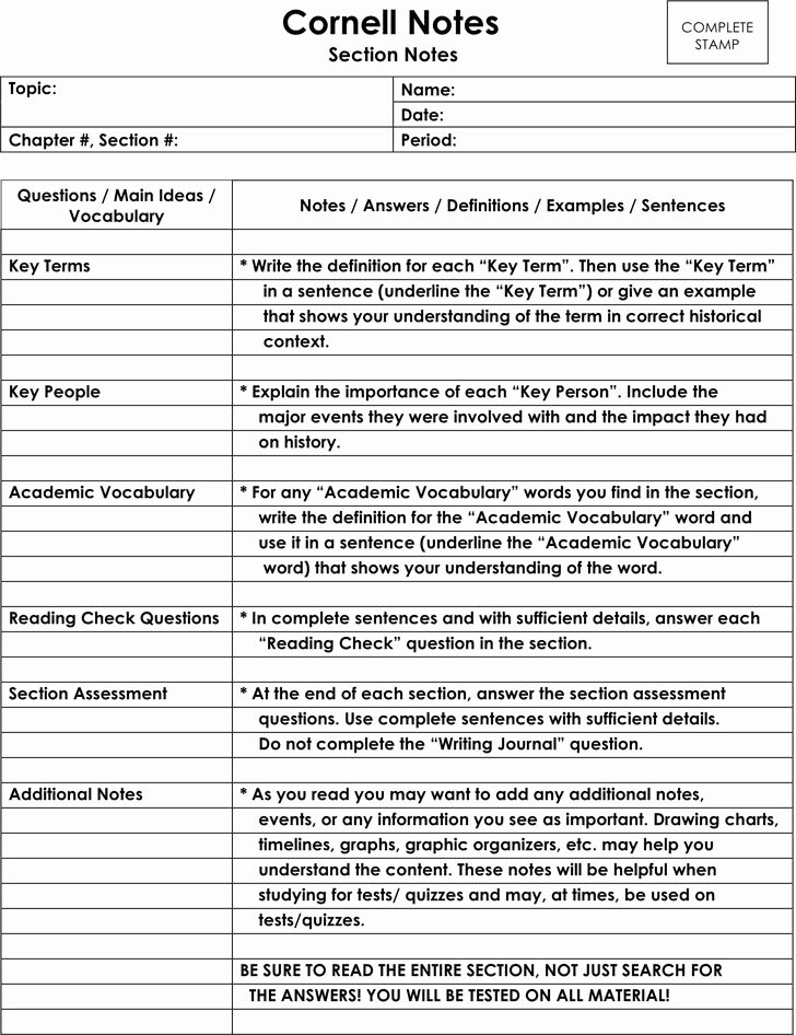 Avid Cornell Notes Template New 66 Best Images About University On Pinterest