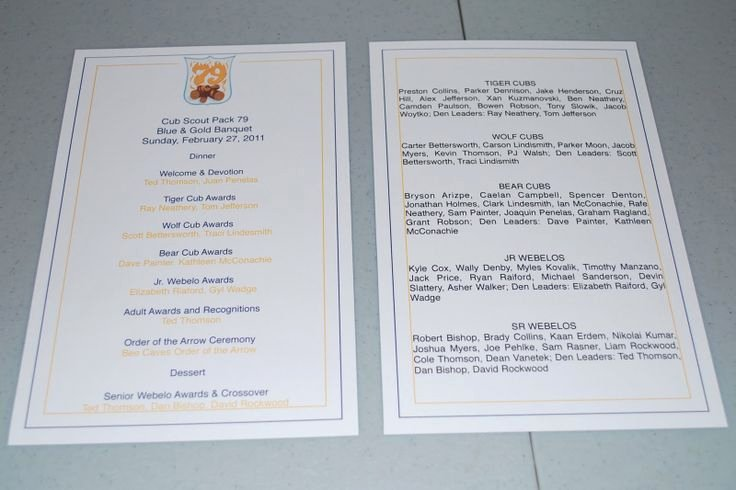 Awards Ceremony Program Sample Awesome Blue and Gold Banquet Program Template Fleur De Lis Designs February 2011