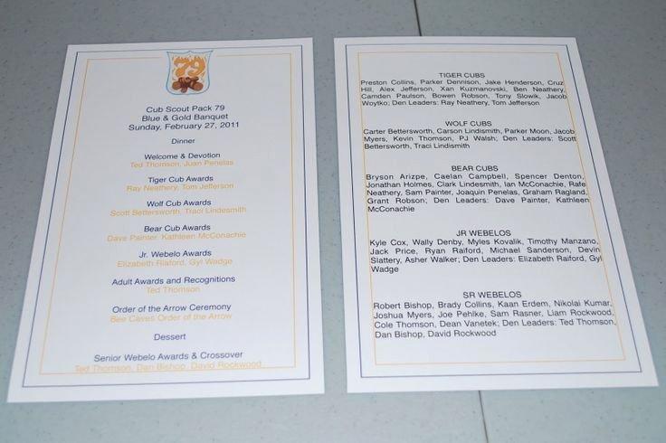 Awards Ceremony Program Sample Awesome Blue and Gold Banquet Program Template Fleur De Lis Designs February 2011
