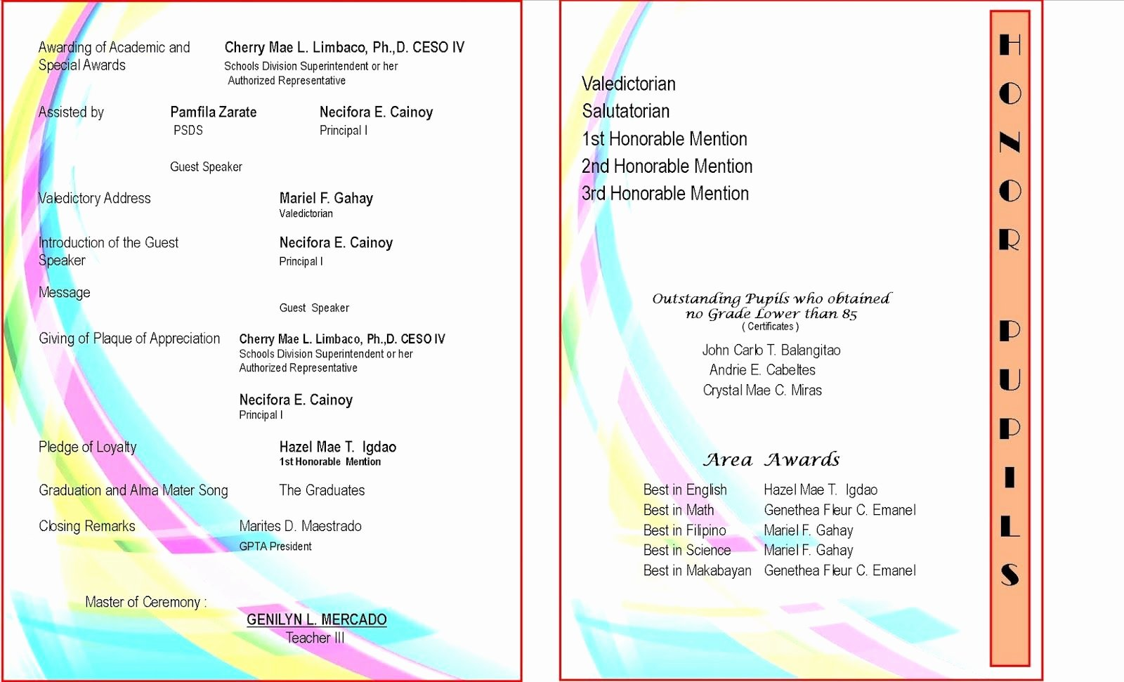 Awards Ceremony Program Sample Beautiful Sample Graduation Program Templates Desktop