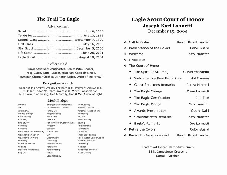 Awards Ceremony Program Sample Best Of Court Of Honor Program Sample Step D Program Pdf Scouts Pinterest
