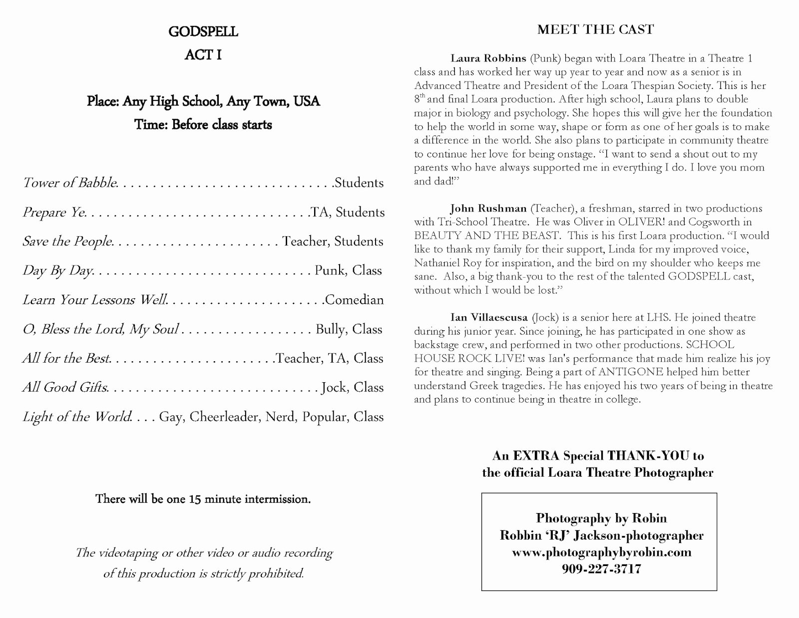 Awards Ceremony Program Sample Best Of Loara High School Loara theatre Arts Macy Awards