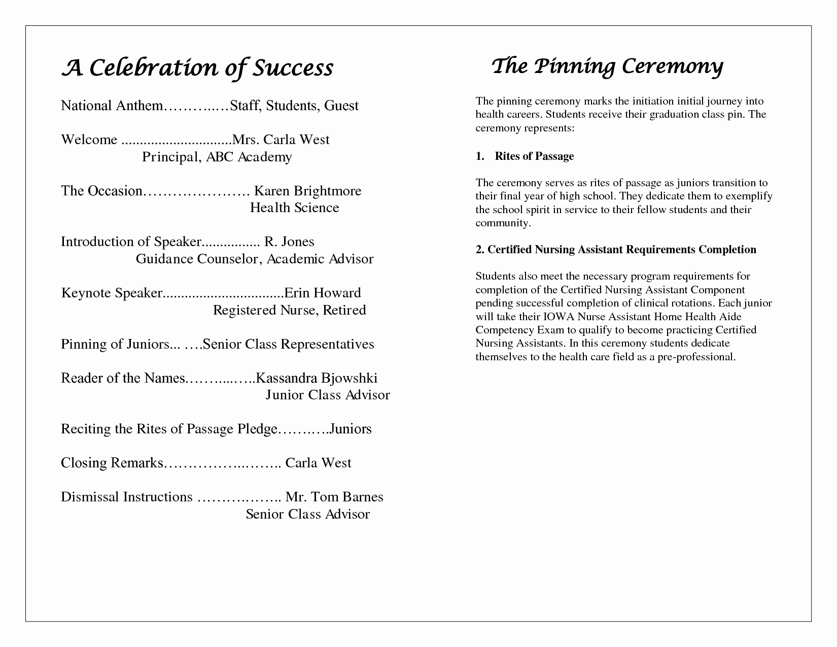 Awards Ceremony Program Sample Elegant Award Ceremony Program Template – Free Download – December 2018 Calendar