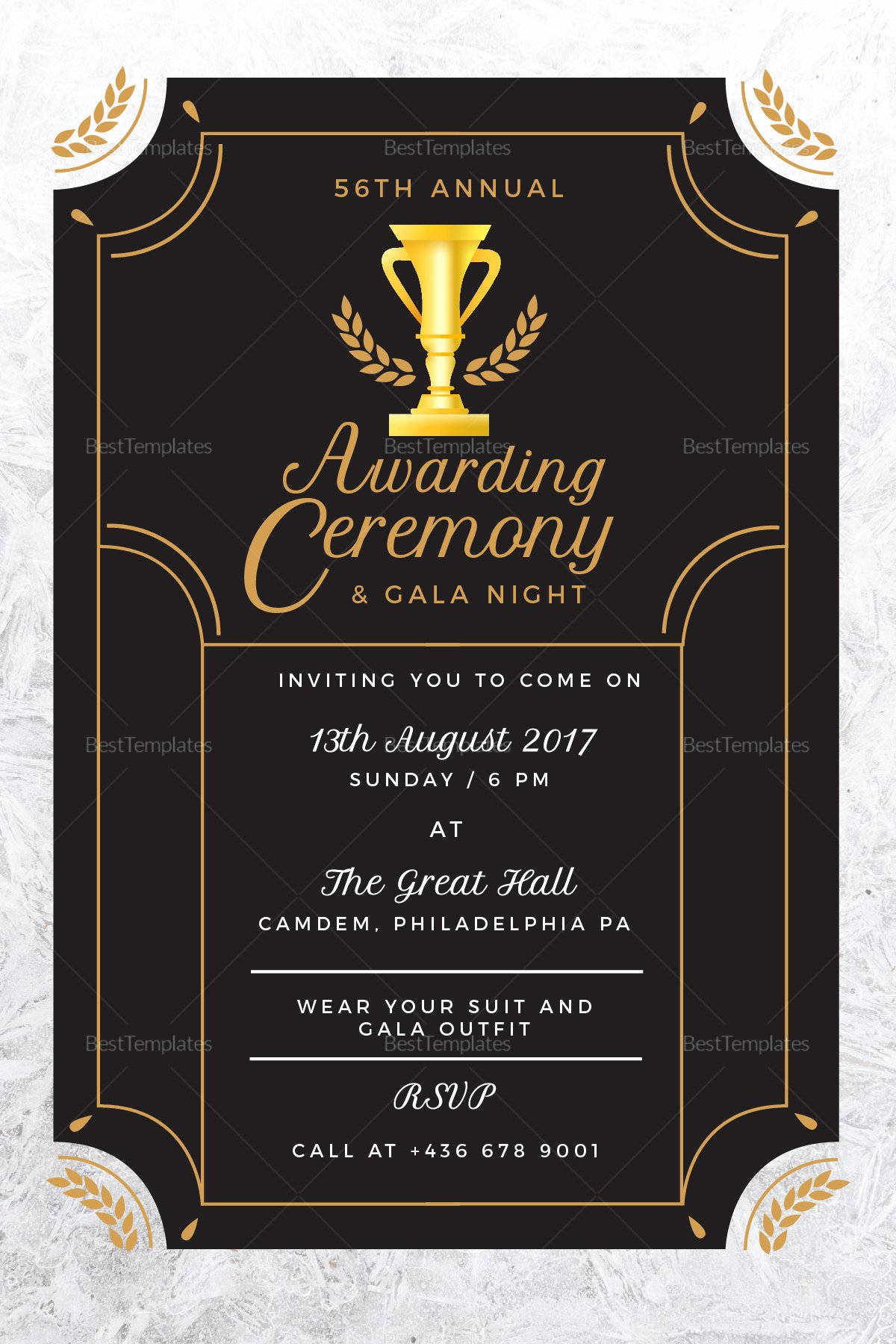 Awards Ceremony Program Sample Lovely Annual Award Ceremony Invitation Design Template In Psd Word Publisher Illustrator Indesign
