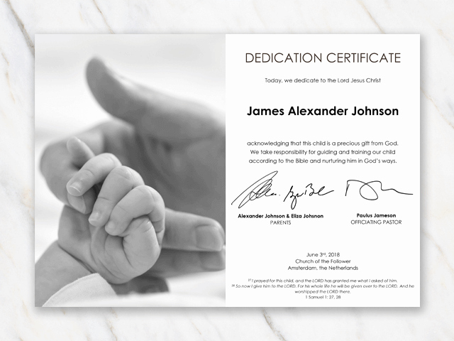 Baby Dedication Certificate Template Best Of Baby Dedication Certificate Template for Word [free Printable]
