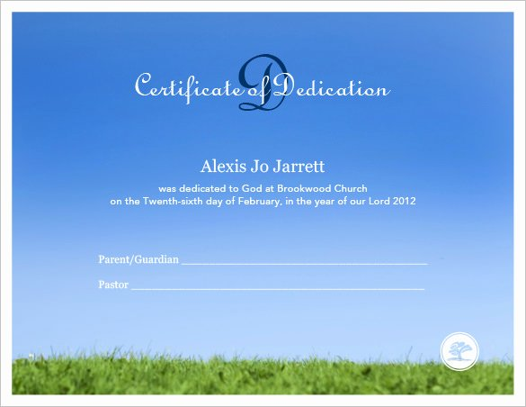 Baby Dedication Certificate Template Elegant Baby Dedication Certificate Template 21 Free Word Pdf Documents Download