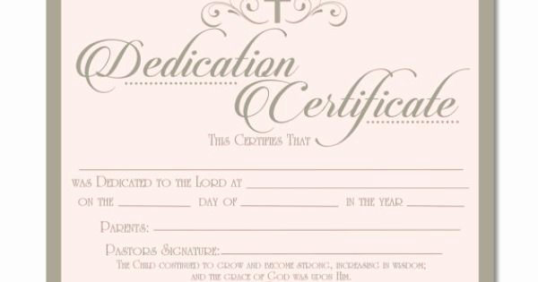 Baby Dedication Certificate Template Elegant Printable Baby Dedication Certificate Digital by Studiobparties …