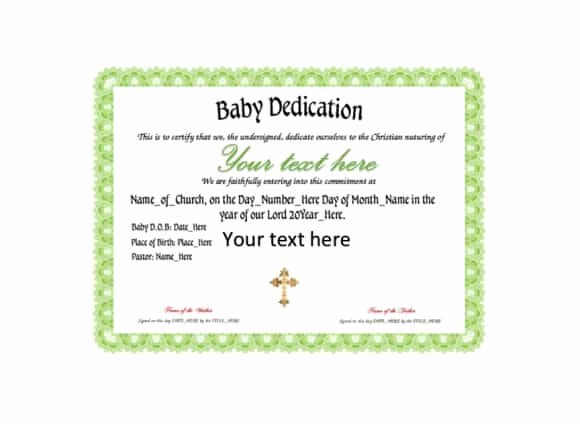 Baby Dedication Certificate Template Fresh 50 Free Baby Dedication Certificate Templates Printable Templates