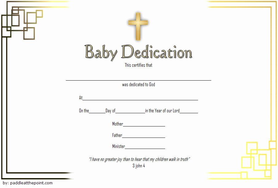 Baby Dedication Certificate Template Inspirational 7 Free Printable Baby Dedication Certificate Templates Free