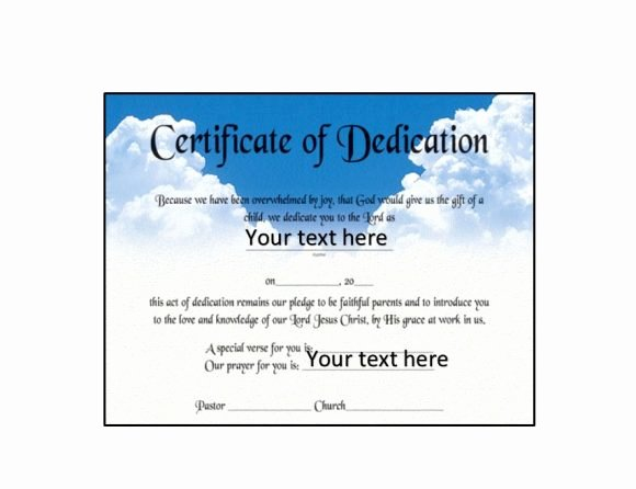Baby Dedication Certificate Template Lovely 50 Free Baby Dedication Certificate Templates Printable Templates